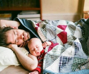 babies, family, and dad image
