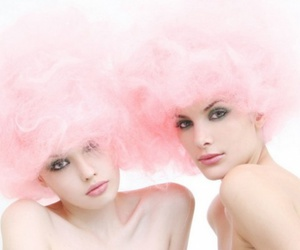 beauty, cotton candy, and photo image