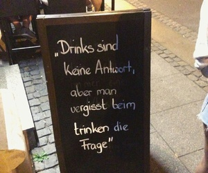 drunk, german, and quote image