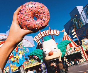 donuts, krustyland, and summer image