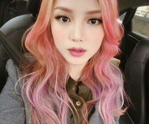 pony, pink, and ulzzang image