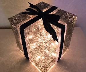 bow, christmas, and gift image