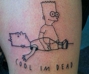 simpsons, tattoo, and dead image