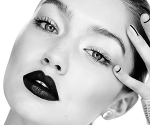 model, gigi hadid, and makeup image