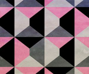 geometric, pattern, and pink and black image