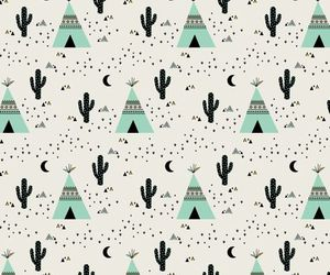 cactus, pattern, and teepee image