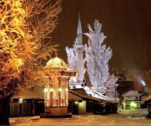 sarajevo, winter, and snow image