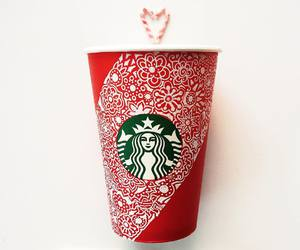 starbucks, art, and winter image