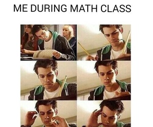 math, school, and teen wolf image