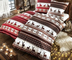 christmas, bed, and cozy image