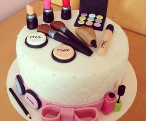 cake, mac, and makeup image