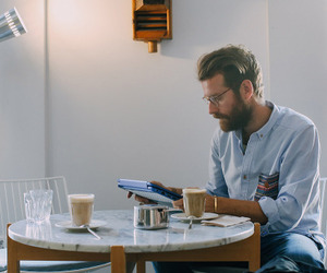 coffee, man, and nice image