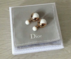 dior, earrings, and gold image