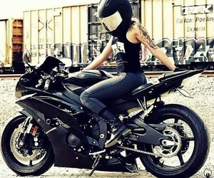 black, motorcycle, and moto image