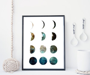 moon, nature, and decor image