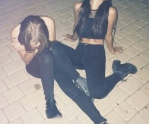 friends, black, and grunge image