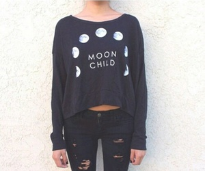 fashion, moon, and outfit image