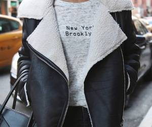 fashion, jacket, and new york image