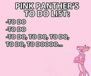 funny, pink, and pink panther image