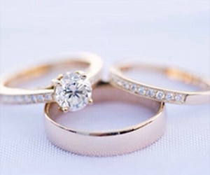 wedding, beautiful, and ring image