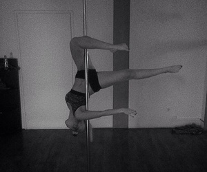 girl, poledance, and pole image