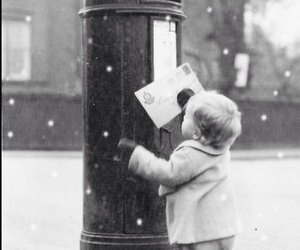snow, Letter, and christmas image