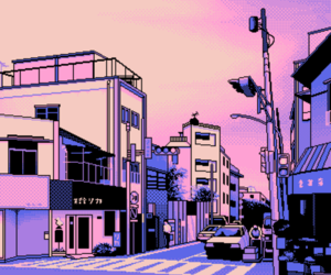 pink, pixel, and purple image
