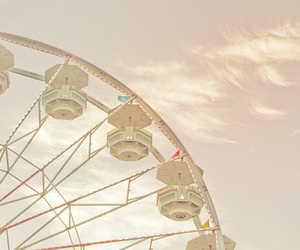 ferris wheel, photography, and sky image