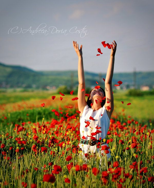 Beauty Girl Happy Nature Roses Picship On We Heart It
