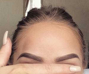 eyebrows, makeup, and nails image