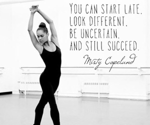 ballet, misty copeland, and quote image