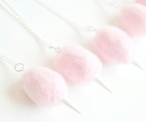 cotton candy, fluffy, and necklace image