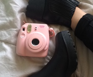 boots, grunge, and pink image