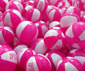 pink, ball, and summer image