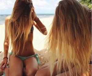 beach, beautiful, and long hair image