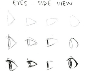anime, drawings, and eyes image