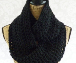 accessories, black scarf, and etsy image