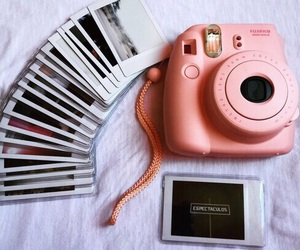 pink, camera, and photo image