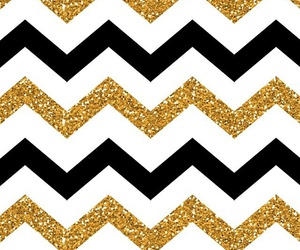 chevron, white, and gold image