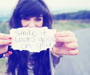 smile, girl, and quote image