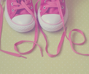 love, pink, and shoes image