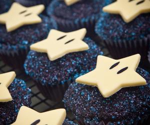 cupcake, food, and stars image