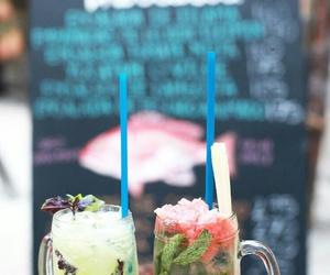 beach, mojito, and drinks image