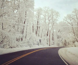 snow, winter, and hipster image