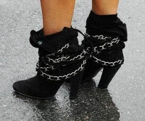 boots, shoes, and chains image