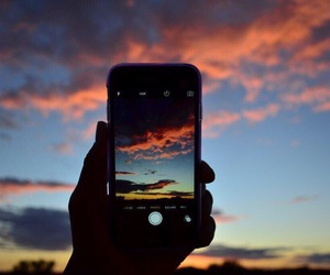 iphone, sky, and phone image