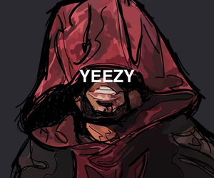 yeezy, kanye west, and art image
