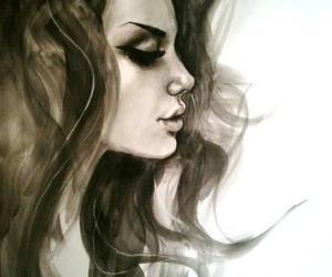 drawing, art, and Mila Kunis image