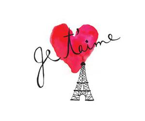 love, paris, and heart image