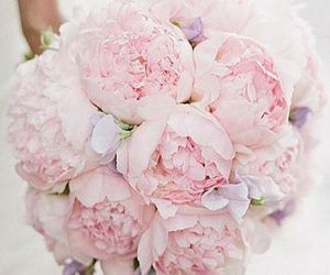 flowers, wedding, and peonies image
